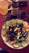 Good salad with good beer